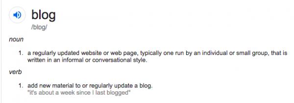 Kaj je blog (EN)